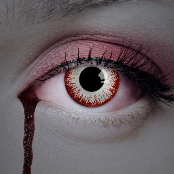aricona Farblinsen weiße Zombie Kontaktlinsen farbig / Horror Halloween Make-up