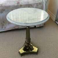 Marble Top Bust Table