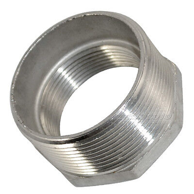 2male X 1 12inch Female Stainless Steel Threaded Reducer Bushing Pipe Fitting