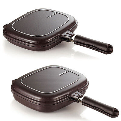 [HAPPYCALL]Double Sided Pressure Plasma Titanium Frying Pan Cookware 2 SET///