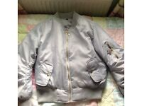 Silver padded coat
