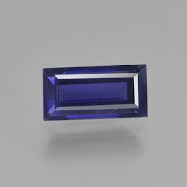 Natural Genuine Iolite AAA Baguette Step-Cut Loose Gemstones (4x2mm - 6x4mm)