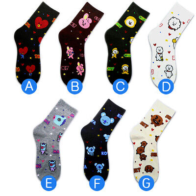 7 Pairs of socks /1 Package Fashion Korea K-pop Boys Cute Character Socks