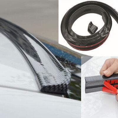 4.9ft/1.5M Universal Carbon Fiber Car Rear Roof Trunk Spoiler Wing Lip Sticker