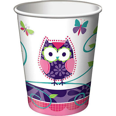 Owl Pal Birthday Party Supplies Cups - Owl Birthday Supplies