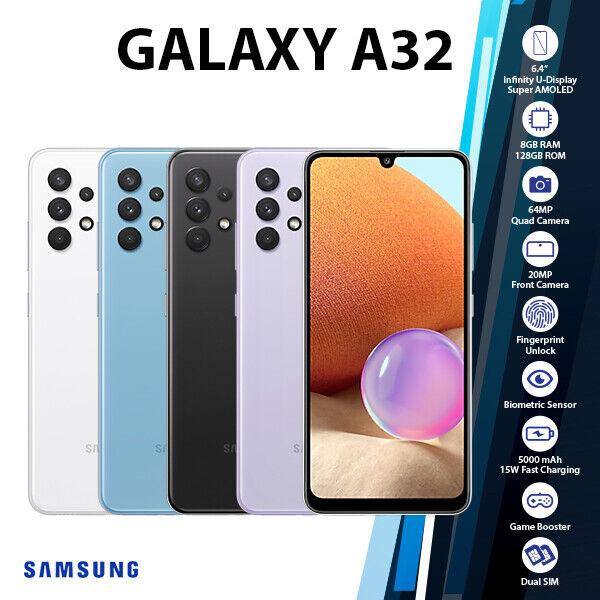 Android Phone - (Unlocked)Samsung Galaxy A32 8GB+128GB Quad Cam Dual SIM 4G Android Mobile Phone