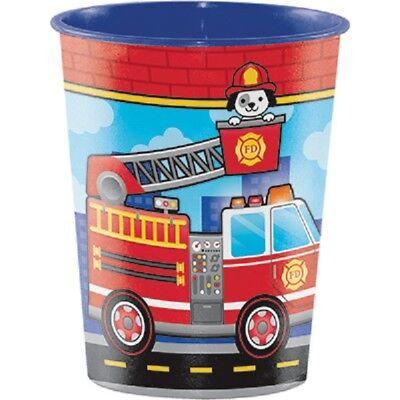 Fire Department / Fireman Party Supplies SOUVENIR PLASTIC CUP (Fire Party Supplies)