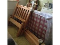 Handcrafted Solid Pine Single Bed