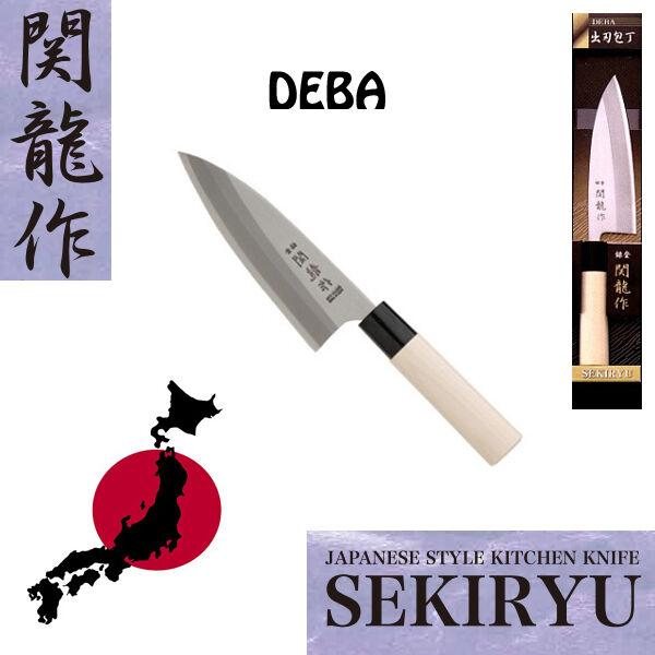 Coltello Giapponese DEBA SEKIRYU 150 mm. in Acciaio per tagli Forti INOX