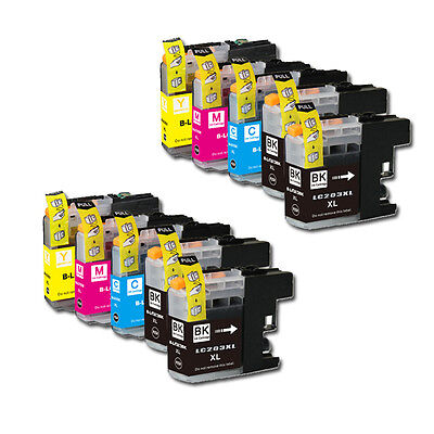 10 PK Printer Ink Set + Chip for Brother LC203 MFC-J680DW