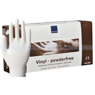 Einmalhandschuhe aus Vinyl Abena transparent XL Einweghandschuhe Schutzhandschuh