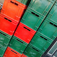Plastic Glass Bottled Crates FREE to a good home