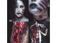 PRO makeup artist for Halloween!!! Halloween,makeup, body painting,cuts,scar