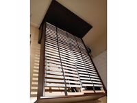 IKEA BRUSALI Queen Bed Frame with Four Storage Boxes