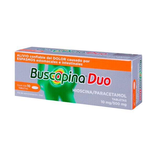 Buscapina Duo - alivio dolor abdominal  -  10 tabletas