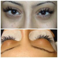 Lash extenstions with certififed technician