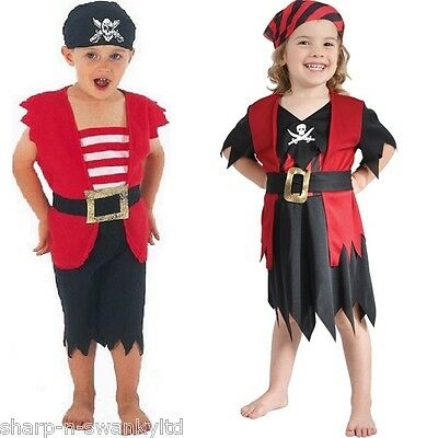 Pirate Dress Up For Boys (Boys Girls Kids Child's Pirate Book Day Dress Up Fancy Dress Costume Outfit 3)