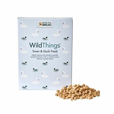 Wild Things Swan & Duck Food Small Dry Nugget Feed Floats on Water 175g Box