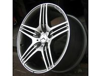 "NEW 18"" MERCEDES TRIPPLE SPOKE AMG STYLE ALLOY WHEELS 5x112( A,B,C,E,S CLASS)"