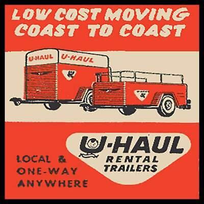 U-Haul Low Cost Moving Coast To Coast Fridge Magnet