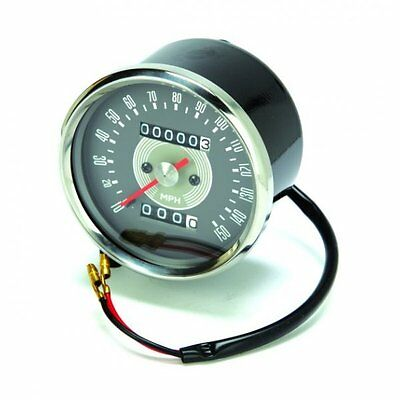 CLASSIC MOTORCYCLE TRIUMPH    SPEEDOMETER GREY FACE
