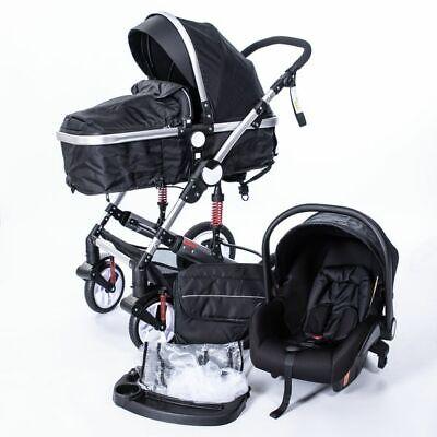 Kinderwagen 3in1 Kombi-Kinderwagen Babywanne=Buggy Autositz Babyschale Neu 1000
