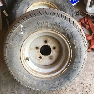 205/65r10 or 20.5x8.0-10 trailer tires on 5 bolt rims