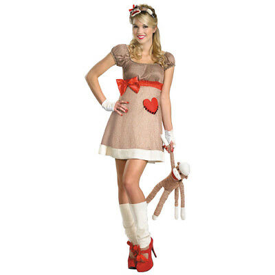 Ms. Sock Monkey Deluxe Adult Womans Costume | Disguise - Adult Sock Monkey Costume
