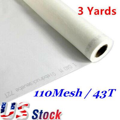 Us Stock 3 Yards Silk Screen Printing Mesh Fabric 110 43t 110-108 L