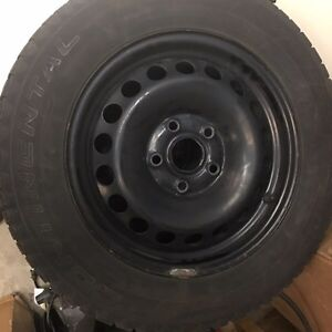 Continental Extreme Winter Contact Tires on Genuine VW Rims Kitchener / Waterloo Kitchener Area image 2