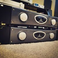 2 600watt Behringer A500 reference amps