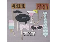 Brand NEW - pack of 10 wedding / party photo props