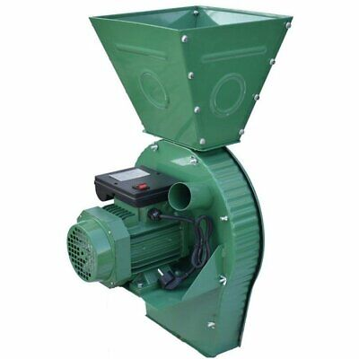 Feed Mill Grinder Ears Corn Grain Oats Wheat Crusher 400kgh 4000w Fast Shipping