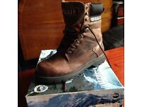 Men's Brown Leather Rugged Boots size 8.5