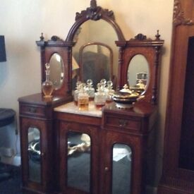 Gothic antique sideboard