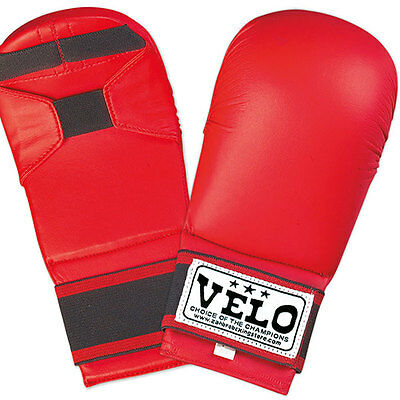 Wkf Karate Mitt - VELO Karate Mitts Gloves wkf Taekwondo Sparring Kick Boxing Martial Arts Punch