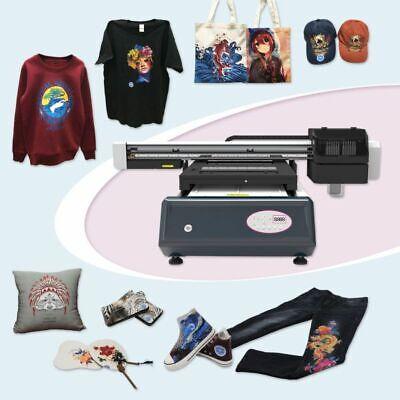 6090 Digital Flatbed Duplex Trays T-shirt Printer White Ink Color Ink Printer