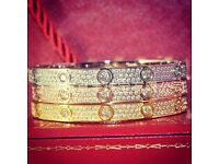 Cartier Love Bracelet Paved Diamonds. PLEASE SEE PICTURES