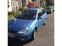 Ford Focus Estate Car 2002 plate Automatic