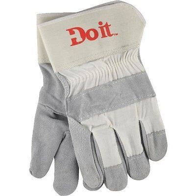 Mens Leather Work Gloves - Large - Leather Palm Work Gloves