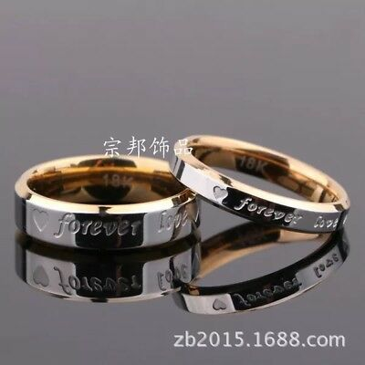 Gold Love Ring - Couple Ring Men/Women Forever Love Silver/Gold Steel Wedding Engagement Band