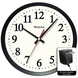 Westclox 14 Round Electric Powered Office Wall Clock  32189A