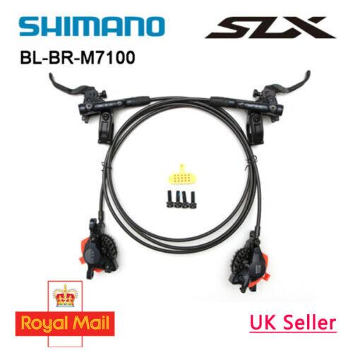 Shimano Deore BR-M6120//BL-M6100 Front RH Bled Brake Lever//Post Mount 4 Pot Calli