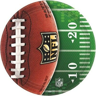 NFL Football Dinner Plates-8 Count-NEW-10.5 in - Football Plates