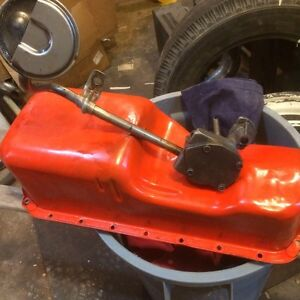 Chevy II ACADIAN OIL PAN AND PUMP AND PICKUP