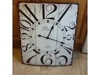 Large tin clock