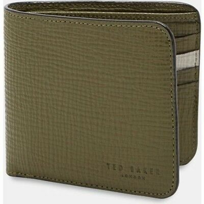 Ted Baker London Palmelato Bi fold Wallet Olive One Size ($115) New W/T No Box
