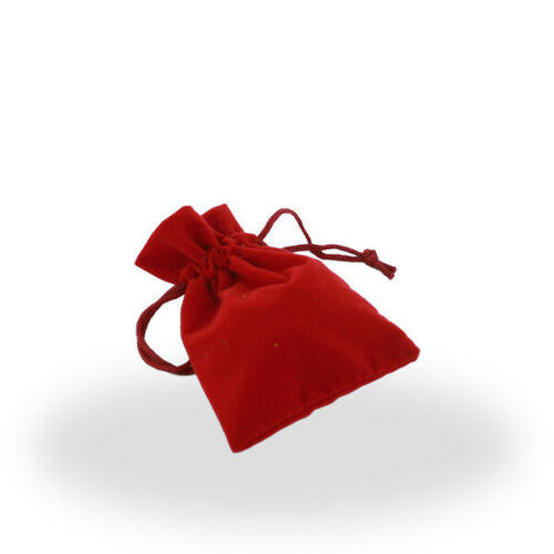 Pouch Wholesale Lot Red Velour Draw String Pouch Set of 400