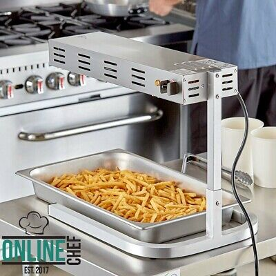 Freestanding Strip Style French Fry Warmer Dump Station Countertop 120v 500w