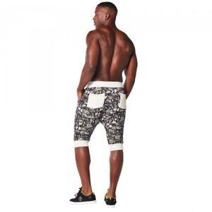 Zumba Mens City Swag Capri Pants Medium Black NEW with tags